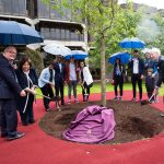 A commemorative tree planting ceremony took place in June to mark the 30th anniversary of the enactment of the University of Limerick Act 1989. Leading the planting ceremony were, Dr. Des Fitzgerald, President UL, Mary Harney, Chancellor Ul and Dr. Ed Walsh, UL Founding President. Picture: Alan Place